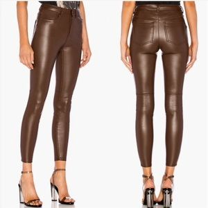 NWT Free People Faux-Leather Skinny Pants